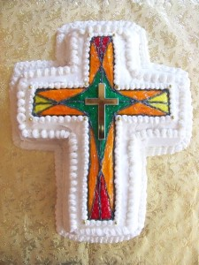 Stained Glass Cross Cake