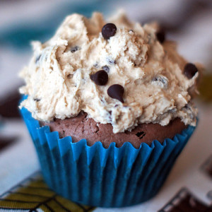 Ben and Jerry's Half Baked Cupcakes (Fudge Brownies with Cookie Dough Frosting)