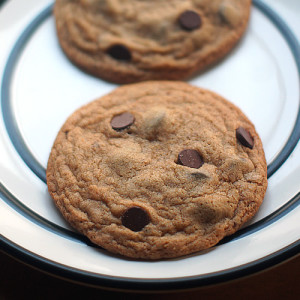 Vegan Whole-Wheat Chocolate Chip Cookies for Two