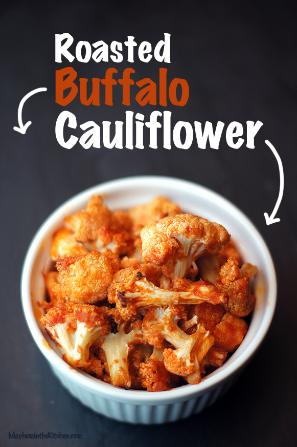 Roasted Buffalo Cauliflower #vegan #paleo #lowcarb #glutenfree
