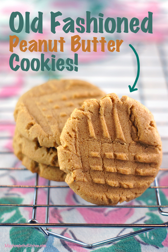 Old Fashioned Peanut Butter Cookies! #classic #tested #vintagerecipes