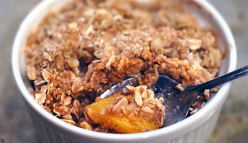 Quick and Easy Gluten Free Peach Crisp