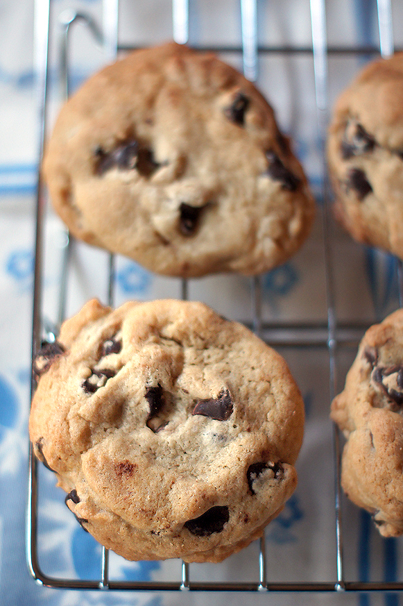 Ultra Chewy Chocolate Chip Cookies with a secret ingredient!