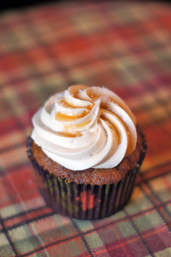 Pumpkin Spice Cupcakes with Salted Caramel Frosting  a17bd9e231