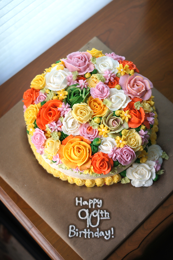 Superb 90Th Birthday Cake Mayhem In The Kitchen Personalised Birthday Cards Sponlily Jamesorg