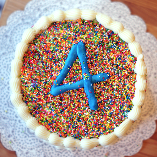 Fine Sprinkle Covered Birthday Cake Mayhem In The Kitchen Personalised Birthday Cards Paralily Jamesorg